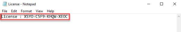 کپی کردن لایسنس 3cx در یک فایل متنی