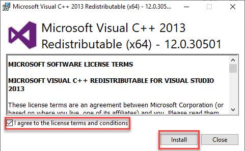 برای سیستم تلفنی 3cx Microsoft Visual C++ نصب
