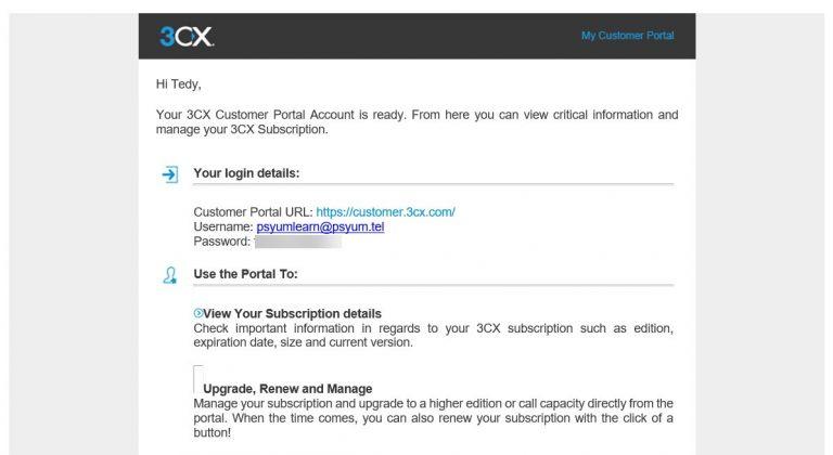 اطلاعات ورود به پرتال نیز پس از تایید کردن ایمیل